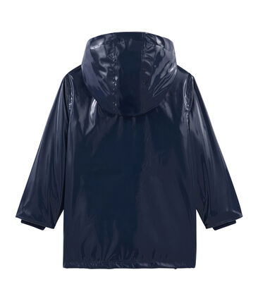 Girls' Gloss Raincoat Smoking blue