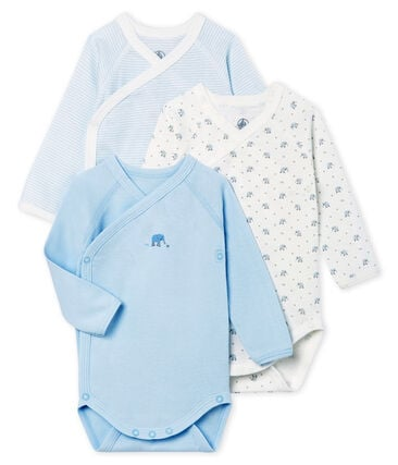 Unisex newborn baby long-sleeved bodysuit - 3-piece set