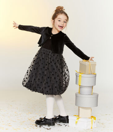 Girls' Dress + Bolero Ensemble . set