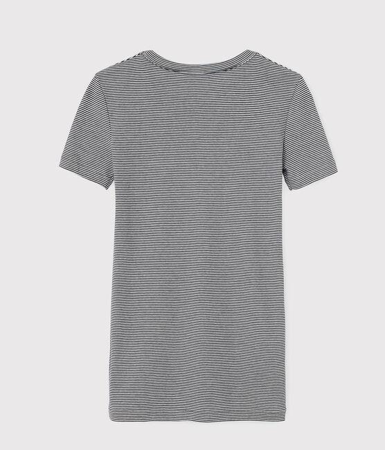 Women's Iconic Round Neck T-Shirt Smoking blue / Marshmallow white