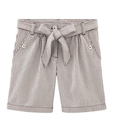 Girls' Shorts Vino red / Marshmallow white