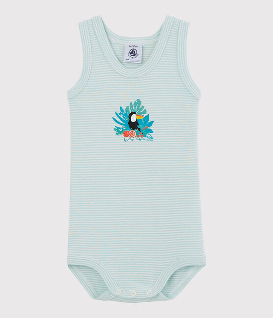 Baby Boys' Sleeveless Bodysuit CRYSTAL/MARSHMALLOW