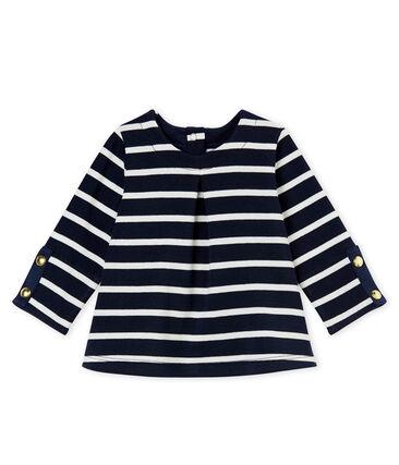 Baby girl's sailor stripe blouse