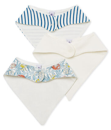 Baby Boys' Bibs in Cotton - Set of 3