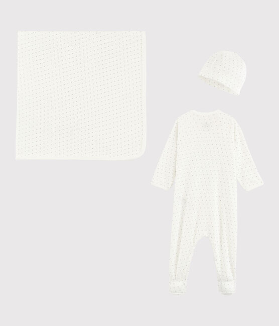 Newborn boy's rib knit gift set . set