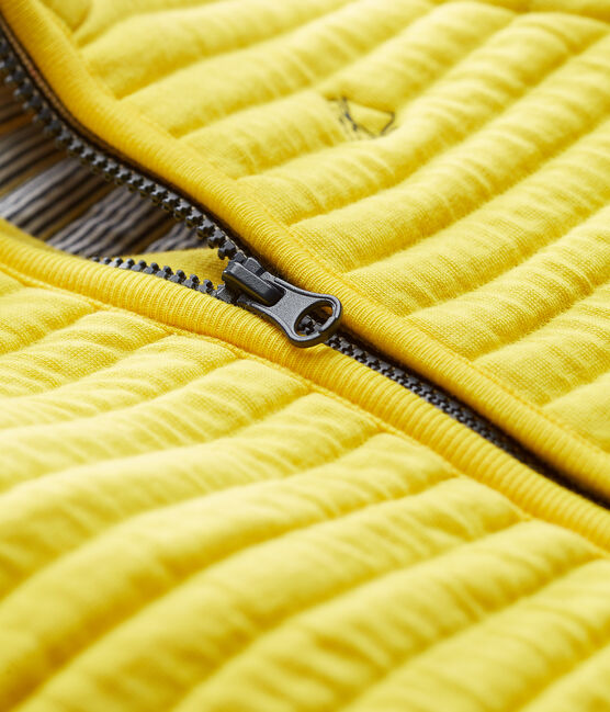 Baby boys' jacket in quilted tube knit Shine yellow