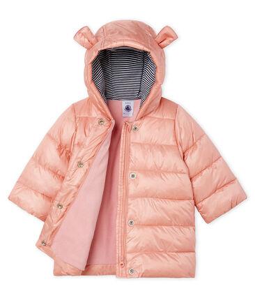 Baby Girls' Satin Look Polyamide Parka Coat Fleur pink