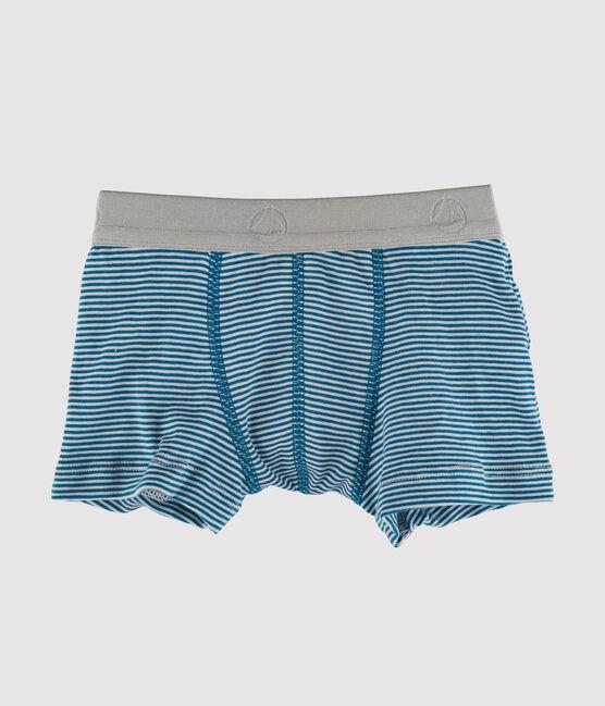 Boys' Boxer Shorts blue Contes / Marshmallow white