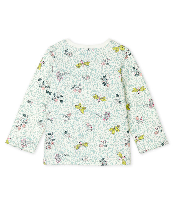 Baby Girls' Print Fleece Cardigan Marshmallow white / Multico white