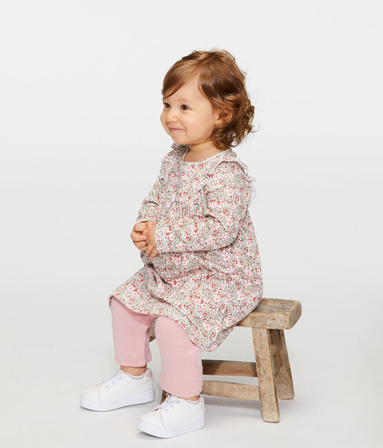 Baby Girls' Printed Dress/Leggings Marshmallow white / Multico white