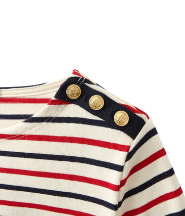 Women's heavy jersey tricolor sailor top