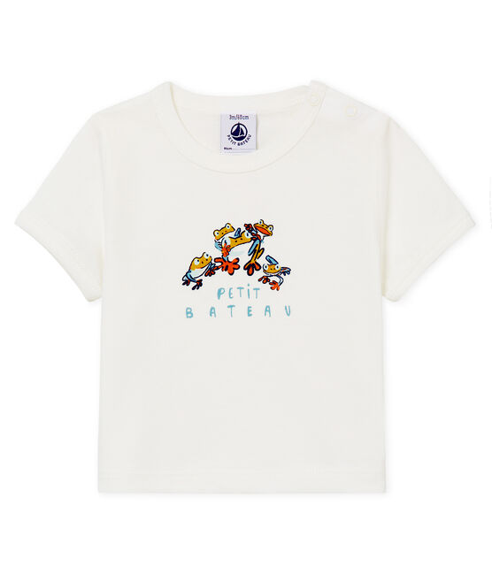 Baby boys' t-shirt with motif Marshmallow white