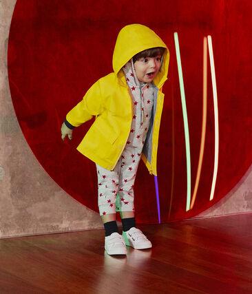 Baby Boys' Long Hooded Printed Jumpsuit Beluga grey / Terkuit red