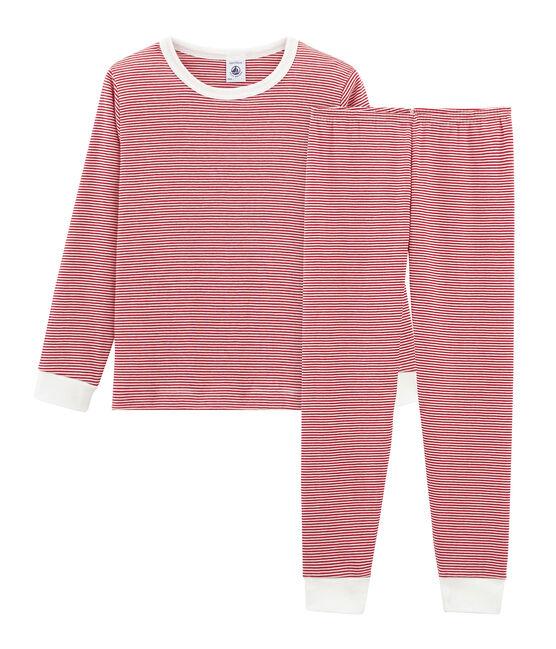 Boys' Pyjamas Terkuit red / Marshmallow white