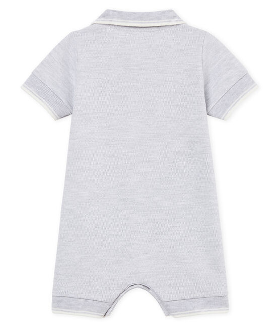 Baby boys' polo shirt Shortie Poussiere Chine grey