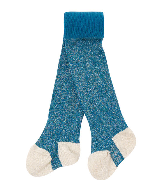 Baby girl's lurex tights Contes blue