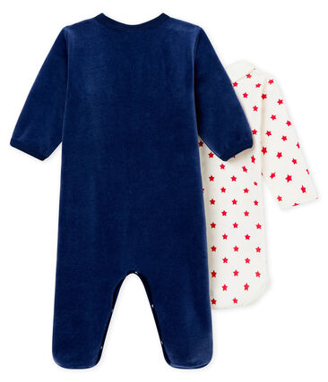 Set of baby boy's sleepsuit and body in a cotton.