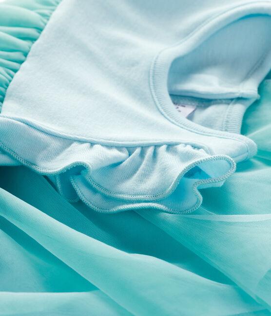 Baby Girls' Short-Sleeved Bodysuit/Dress Glacis blue