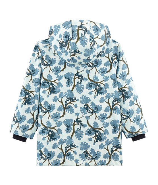 Boys' Printed raincoat Marshmallow white / Multico white