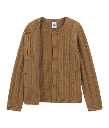 Wool and cotton cardigan