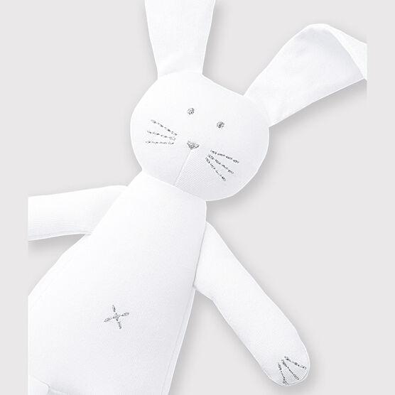 Babies' Jersey Bunny Comforter Ecume white