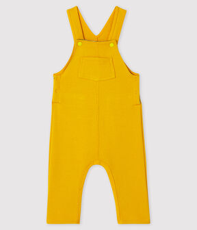 Baby boy's long dungarees Boudor yellow