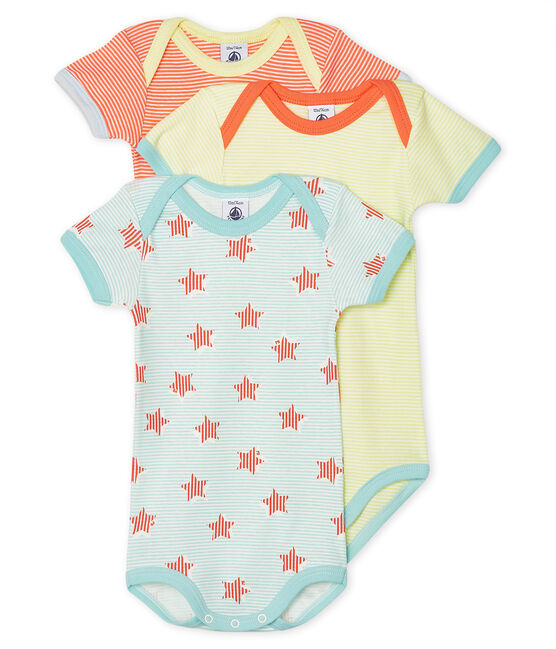 Unisex Baby's Short-Sleeved Bodysuit - 3-Piece Set . set