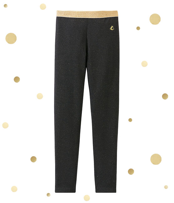 Girl's shiny leggings Capecod grey / Dore yellow