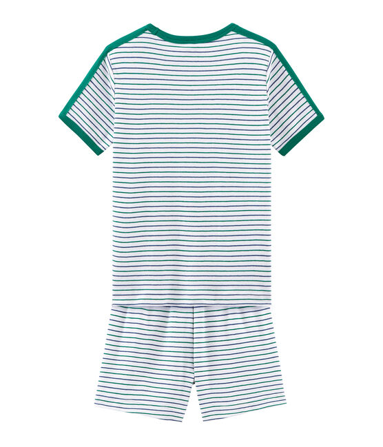 Boys' short Pyjamas Marshmallow white / Multico white