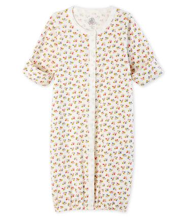 Babies' Ribbed Jumpsuit/Sleeping Bag Marshmallow white / Multico white