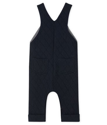 Baby Boys' Quilted Tube-Knit Dungarees