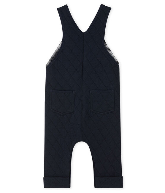 Baby Boys' Quilted Tube-Knit Dungarees Smoking blue