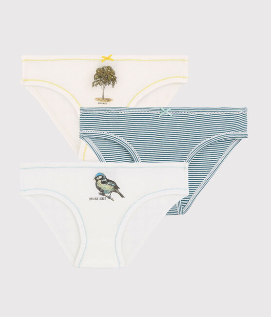 Petit Bateau x Deyrolle Girls' Briefs - 3-Piece Set . set