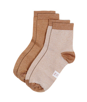 Pack of 2 pairs of women's socks . set