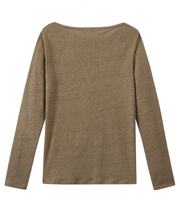 Women's iridescent linen long-sleeve tee