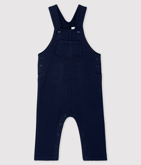 Baby boy's long dungarees Smoking blue