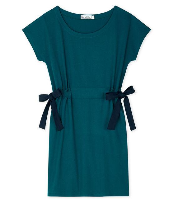 Women's short-sleeved dress Pinede green