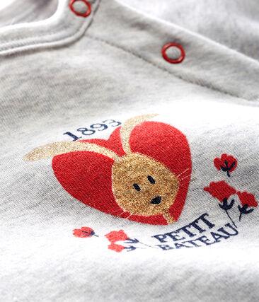 Baby Girls' Long-Sleeved T-Shirt Beluga grey