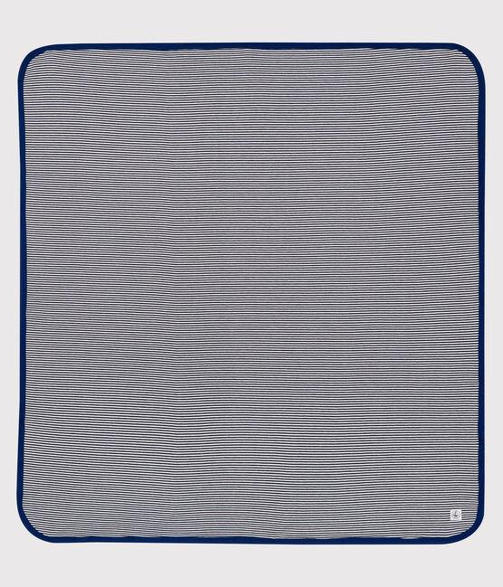 Waveproof Double-Sided Jersey Blanket Smoking blue / Ecume white