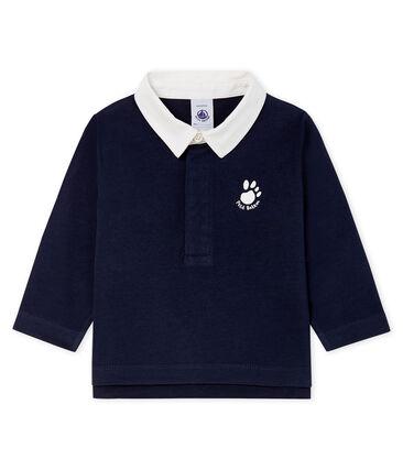 Baby Boys' Long-Sleeved Polo Shirt Smoking blue
