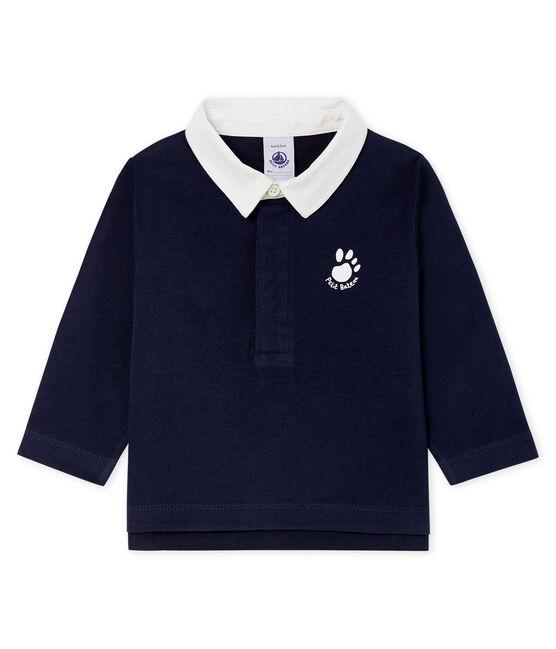 Baby Boys' Long-Sleeved Polo Shirt SMOKING