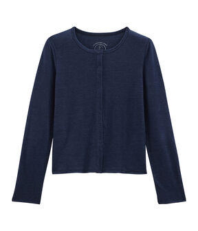 Women's Linen Cardigan Medieval blue