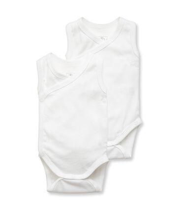 Unisex Babies' Sleeveless Newborn Bodysuit - Set of 2