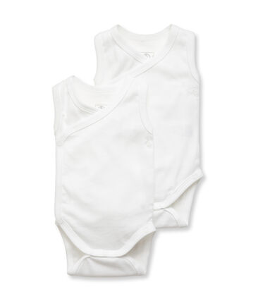 Unisex Babies' Sleeveless Newborn Bodysuit - Set of 2