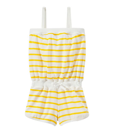 Girl's romper with narrow straps