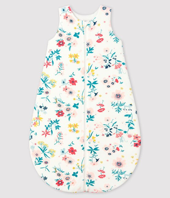 Baby Girls' Velour Sleeping Bag Marshmallow white / Multico white