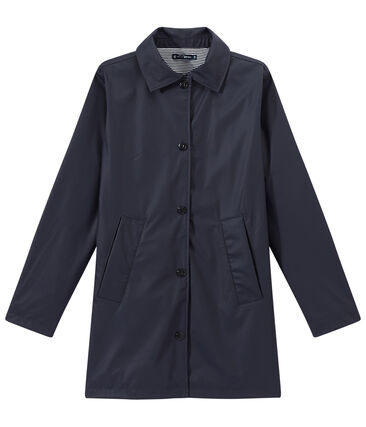 Women's overcoat-style waterproof raincoat Smoking blue