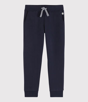 Boys' Fleece Jogging Bottoms Smoking blue