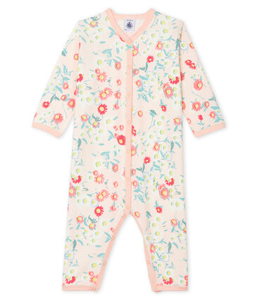 Baby Girls' Footless Sleepsuit Marshmallow white / Multico white