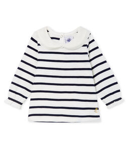 Baby Girls' Long-Sleeved Blouse with Sailor Stripes